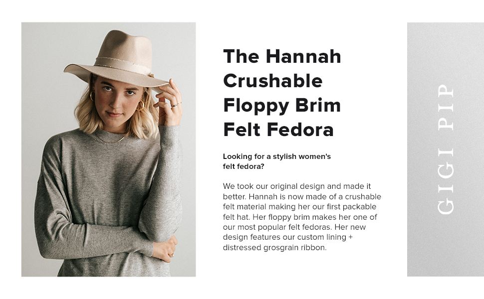 The Billie tell fedora