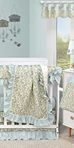 FLORAL CRIB BEDDING SETS