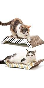猫 猫壱 バリバリベッド つめとぎ 爪とぎ ダンボール ベッド 両面使える 可愛い シンプル 長持ち コスパ
