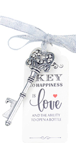 silver key wedding favors wedding skeleton keys thank you keys souvenir bottle opener