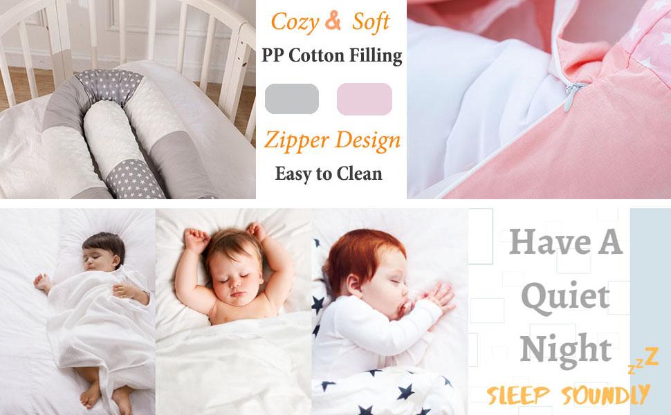 light girl infant sleep gray large long boy cute kid cotton set babies' breathable newborn gift