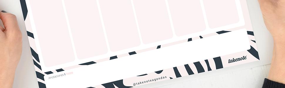 Planificador Semanal Perpetuo Trendy - 32 x 23 cm - Takenote Agendas (rojo): Amazon.es: Oficina y papelería