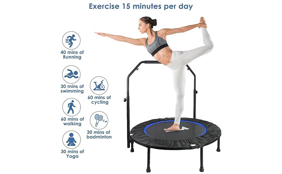 foldable fitness trampoline