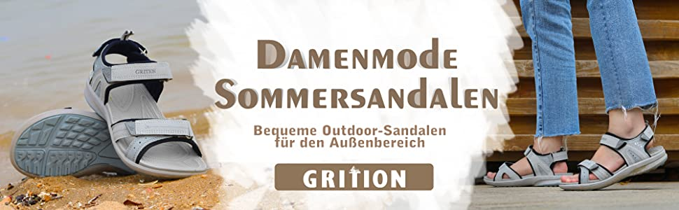 Outdoor Sandalen Frauen Wandersandalen Flach Bequeme Offene Sandale Sportsandalen Leicht Schuhe