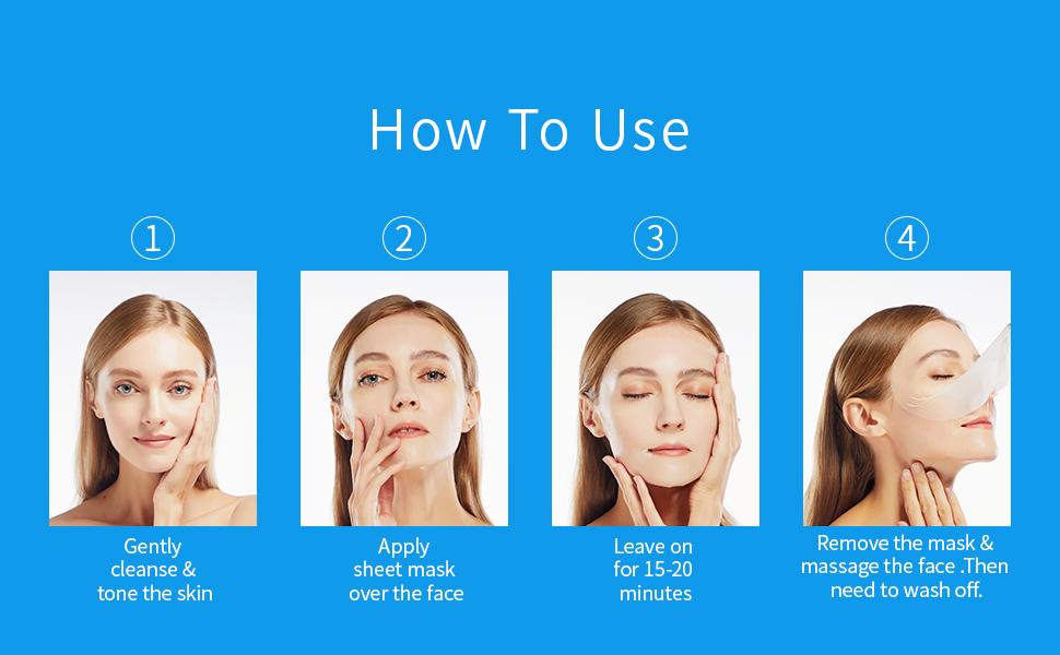 facial mask skin care set spa sensitive wrinkles exfoliating deep cleansing face facial mask cover