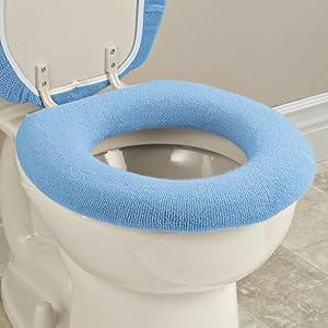 Toilet Seat Cover Generic Washable Cushioning Warmth Universal Size UK Stock