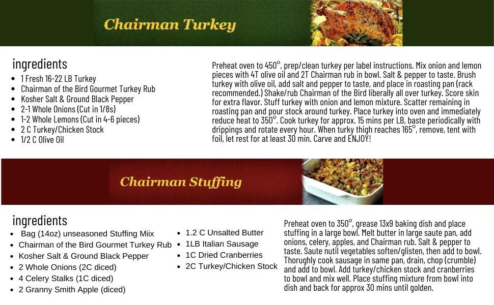 chairman bird thanksgiving turkey rub seasoning spice herb blend gluten free all natural no salt