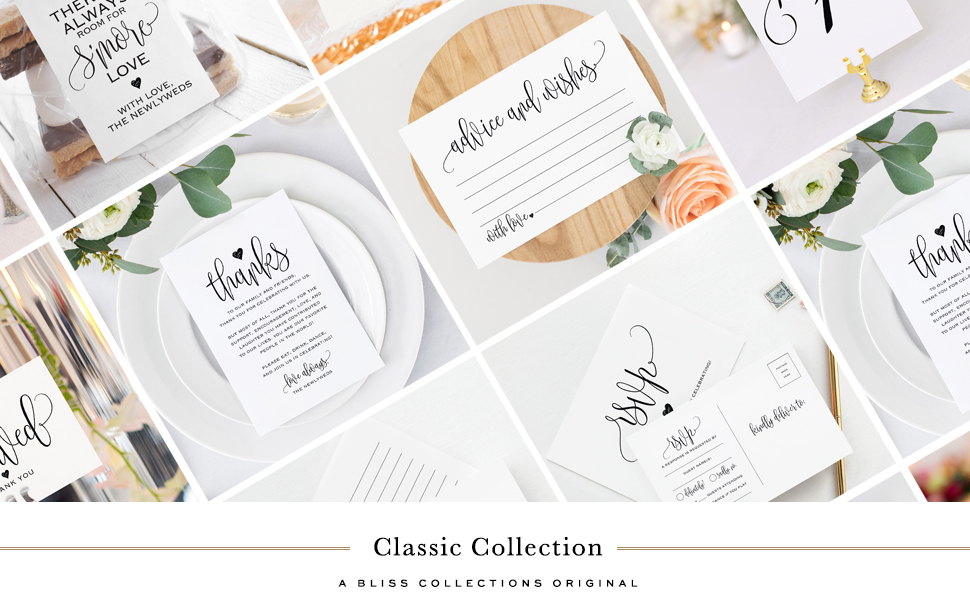 Classic Black and White Collection — Bliss Collections