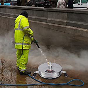 15'' Pressure Washer Surface Cleaner with 3 Wheels