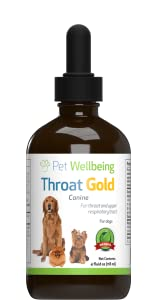 Amazon.com : Pet Wellbeing Throat Gold for Dogs - Natural ...