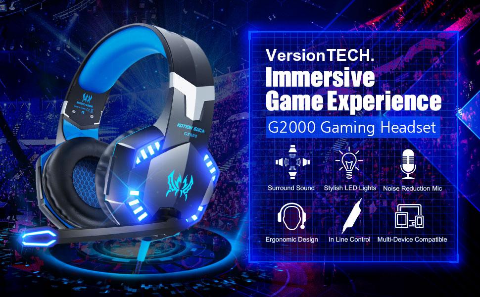 G2000 gaming headset ps4 xboxone gaming headphones