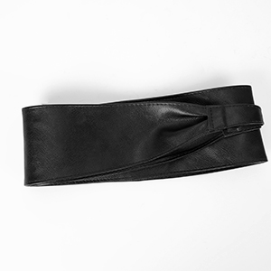 faux leather wide belt
