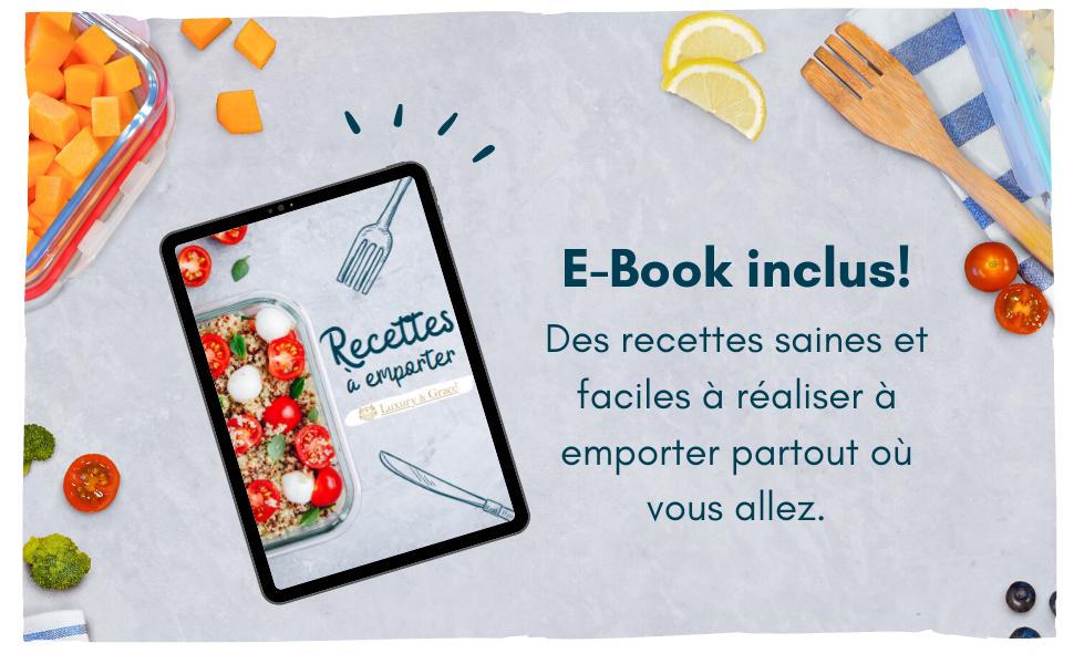Boîtes Alimentaires en Verre. Récipient Micro-Ondes et Congélateur. E-book.