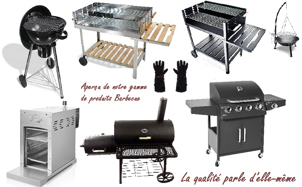 barbecue Grillade grill party inox BBQ charbon gaz electrique jetable viande braséro fumée saucisse