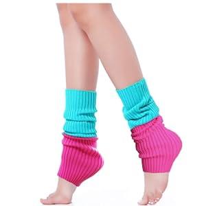 Clenp Winter Women Leg Warmers Short Women Winter Solid Color Short Knit Leg Warmers Boot Socks Toppers Fluffy Cuffs