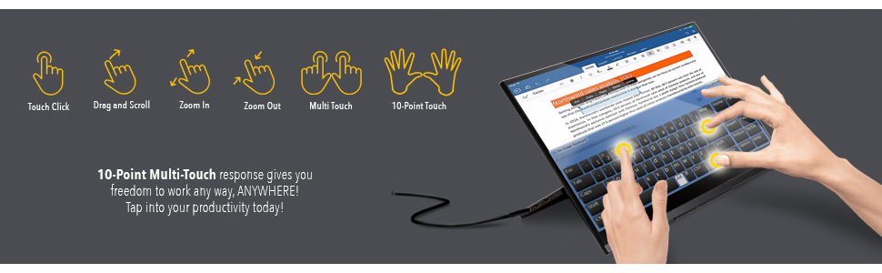 10-point multi-touch screen monitor