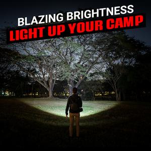 blazing brightness