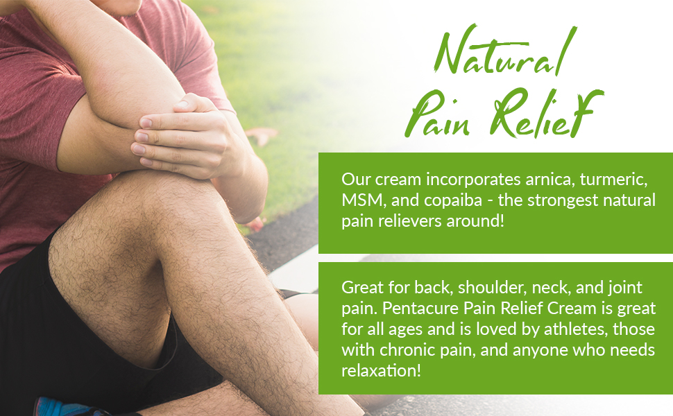 natural pain relief cream specifically formulated using high-quality high-potency organic thc free