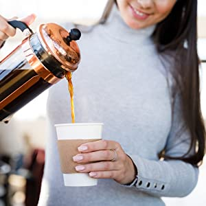 coffee cups with lids Average Joe disposable sleeve