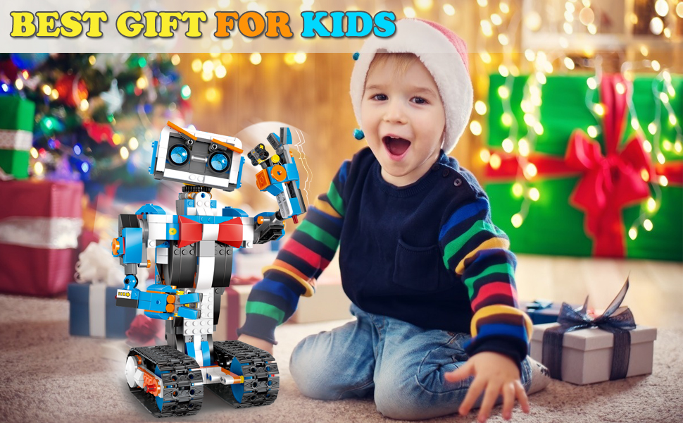 d081bb75 56e9 419b 878a f4453c775f32.  CR0,0,970,600 PT0 SX970 V1    - okk STEM Robot Building Block Toy for Kids, Remote and APP Controlled Engineering Science Educational Assembling Learning Kits Intelligent Rechargeable Creative Set for Boys Girls Gift (635 Pieces)