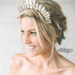Crystal quartz headband
