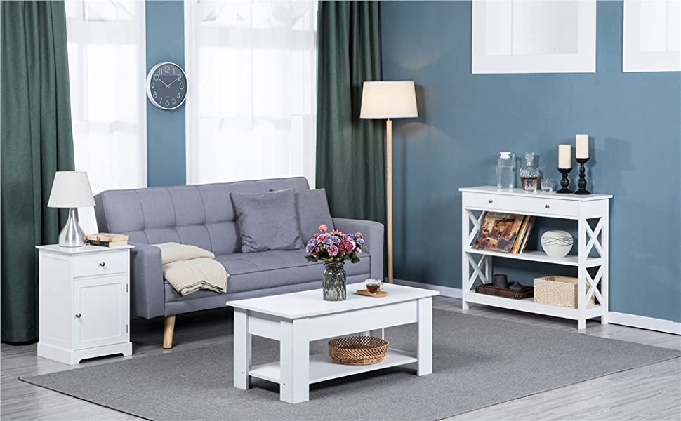 End Table Nightstand Accent Storage Cabinet Couch Side Living Room Furniture