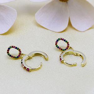 hoop dangle earrings for women