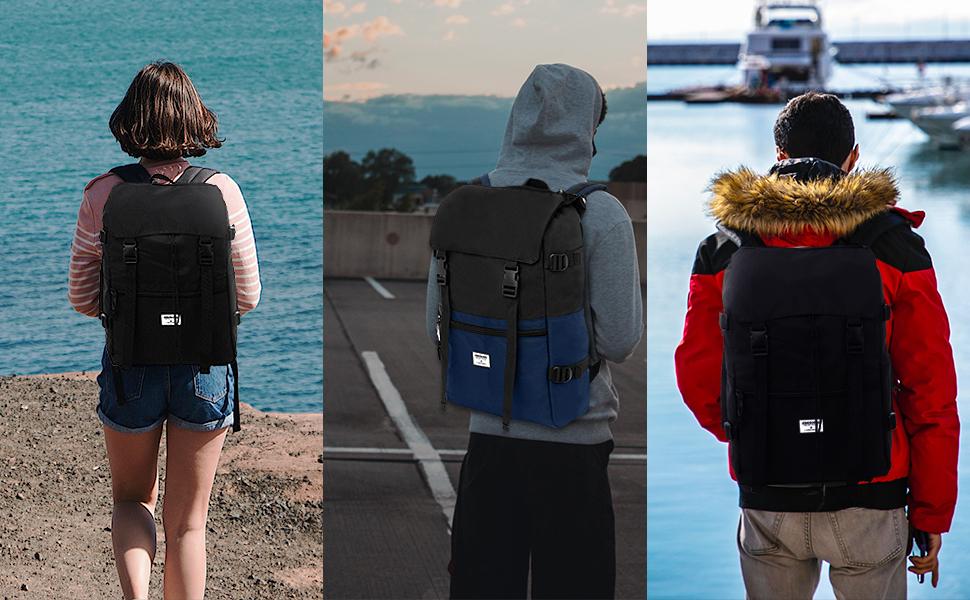 travel hiking shoping laptop