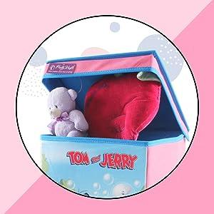 Tom & Jerry SBB_TJ1 Storage Box Big with Lid Toys Organizer for Kids, Large, Pink