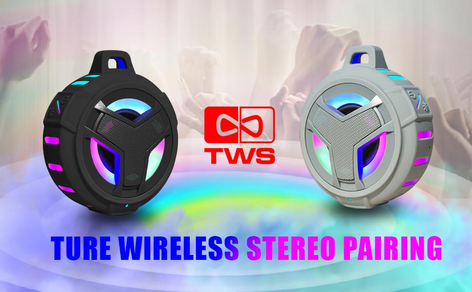 TWS bluetooth speaker, waterproof tws speaker, shower tws speakers, tws shower speaker