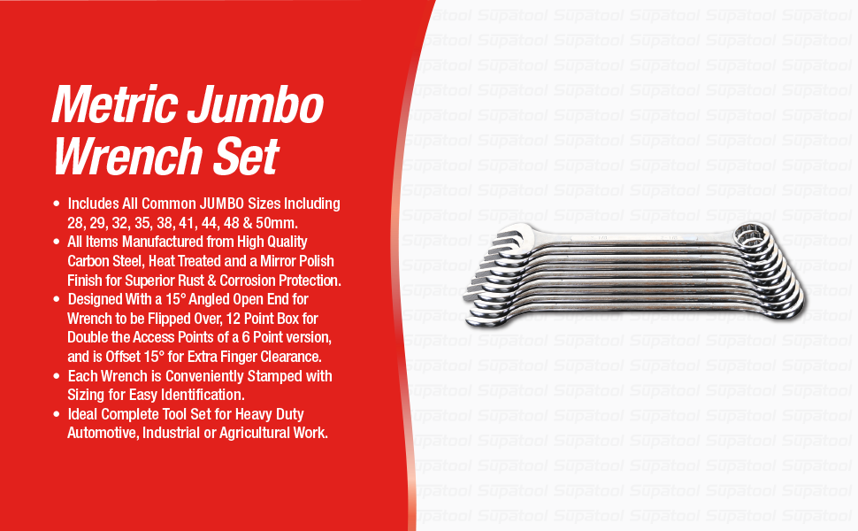 supatool jumbo wrench set jumbo wrenches jumbo spanners industrial wrenches heavy duty wrenches