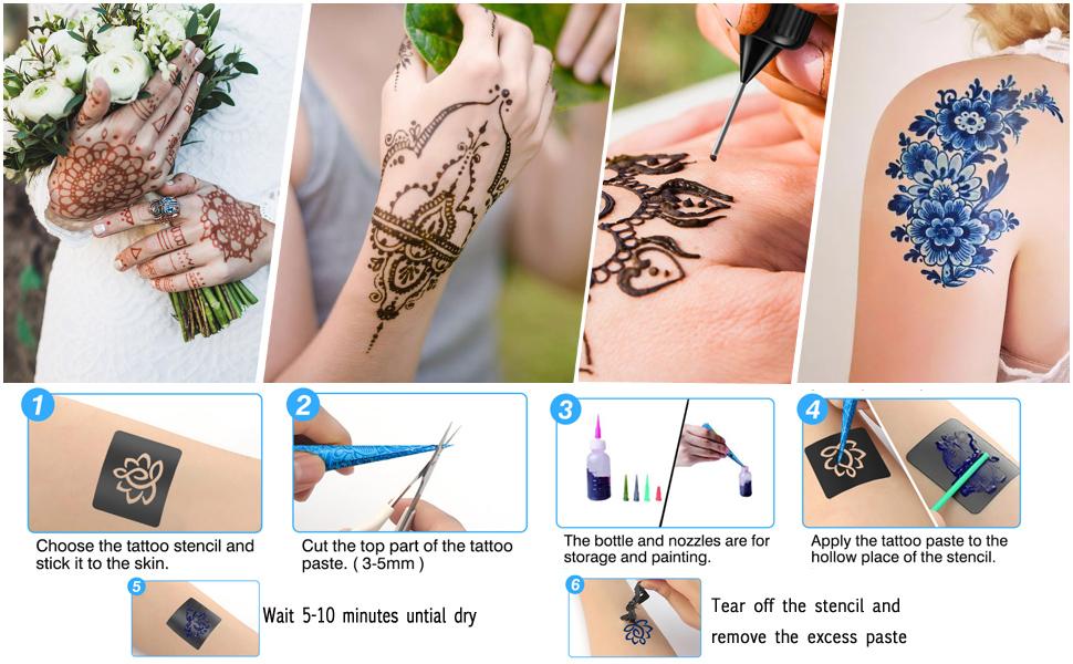 5 colors tattoos