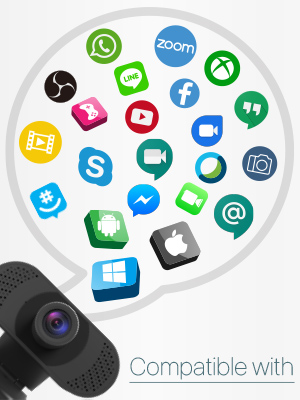 webcam supports UVC control protocol compatible Windows Mac OS Android Smart TV and Linux systems
