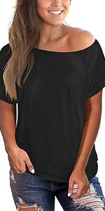 Off Shoulder Short Sleeve Shirt