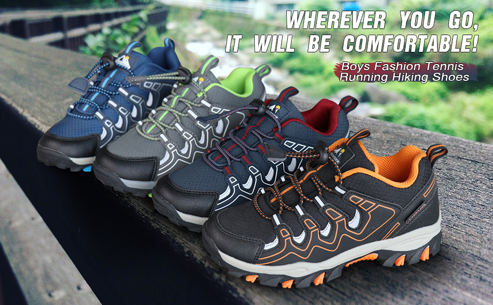 boys hiking trainers