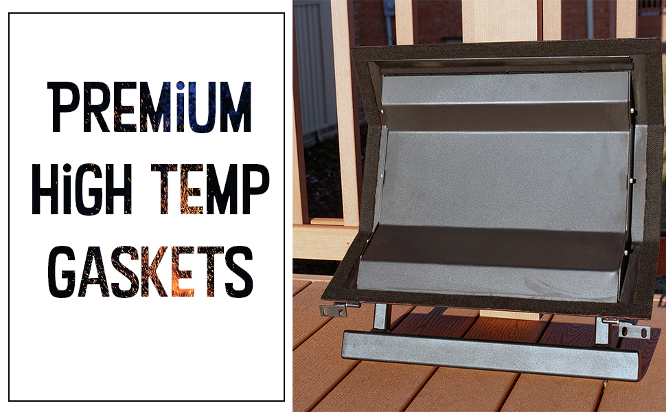 FireBlack® 34 for KAMADO JOE ultra HIGH TEMP Self Stick Gasket Kit for SM MEDIUM