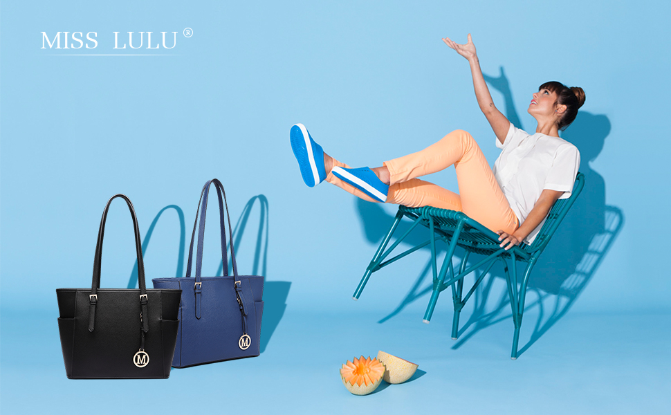 Miss Lulu Donne Ecopelle Spalla borsetta Maniglia regolabile Borsa grande