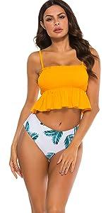 high waisted bikini bathing suit bottoms jamaican swimsuits for women two piece trajes de baño para