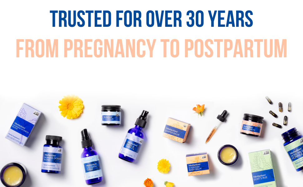 trusted for over 30 years, from pregnancy to postpartum, herbal company, birth, Shop all motherlove