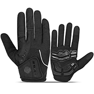Grey cycling gloves