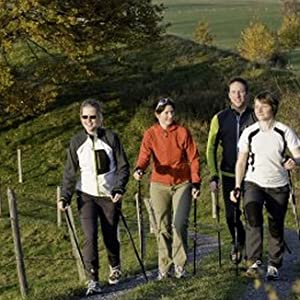 York Nordic walking on a trail