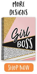"""girl boss, 8.5"""" x 11"""", softcover, spiral notebook"""