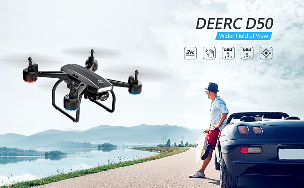 Deerc D50 Drone - Featured Image