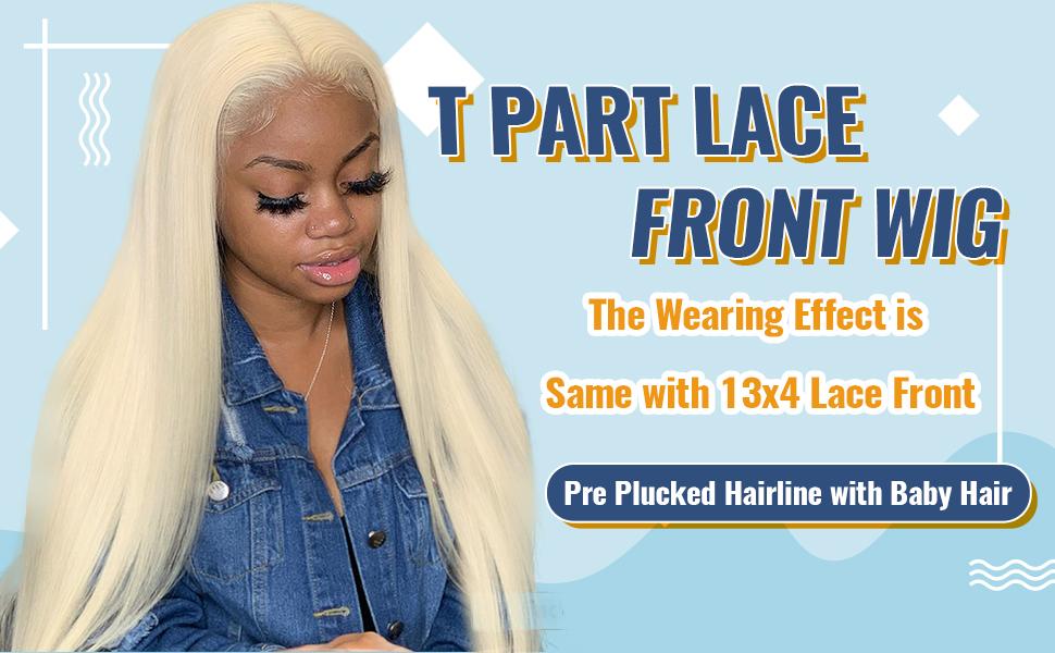 T part lace front wigs