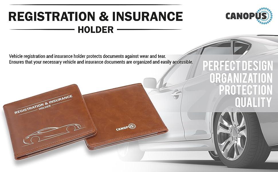insurance and registration holder