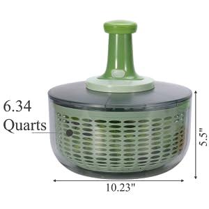 Large salad spinner bowl