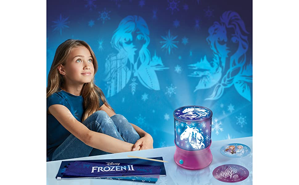 Make It Real – Disney Frozen 2 Starlight Projector - DIY Ceiling Projector for Girls - Illuminates Kids Bedrooms with Scenes from Disneys Frozen 2
