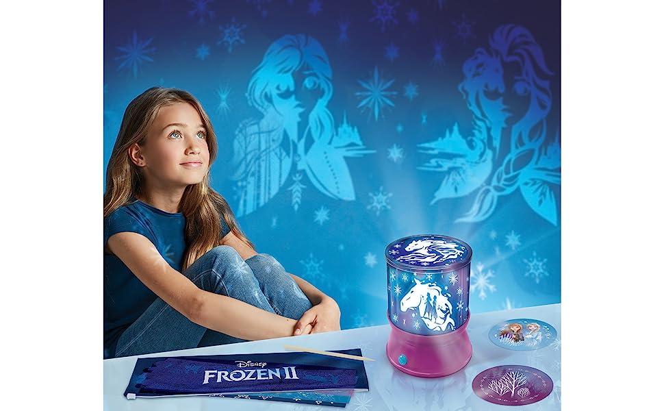 Make It Real – Disney Frozen 2 Starlight Projector - DIY Ceiling Projector for Girls - Illuminates Kids Bedrooms with Scenes from Disneys Frozen 2