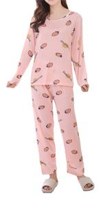 Cute Cartoon Pattern Pajamas Set