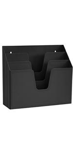 pocket display brochure wall mount hanging pamphlets folders file holder desktop portrait wall mount